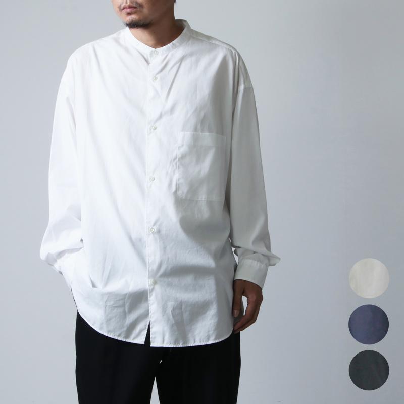 Graphpaper (グラフペーパー) Broad L/S Oversized Band Collar Shirt / ブロードロングスリーブオーバーサイズドバンドカラーシャツ