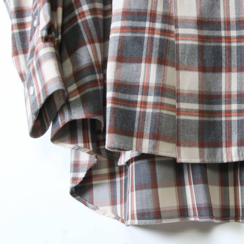 Graphpaper(グラフペーパー) THOMAS MASON  for GP Check Oversised Band Collar Shirt