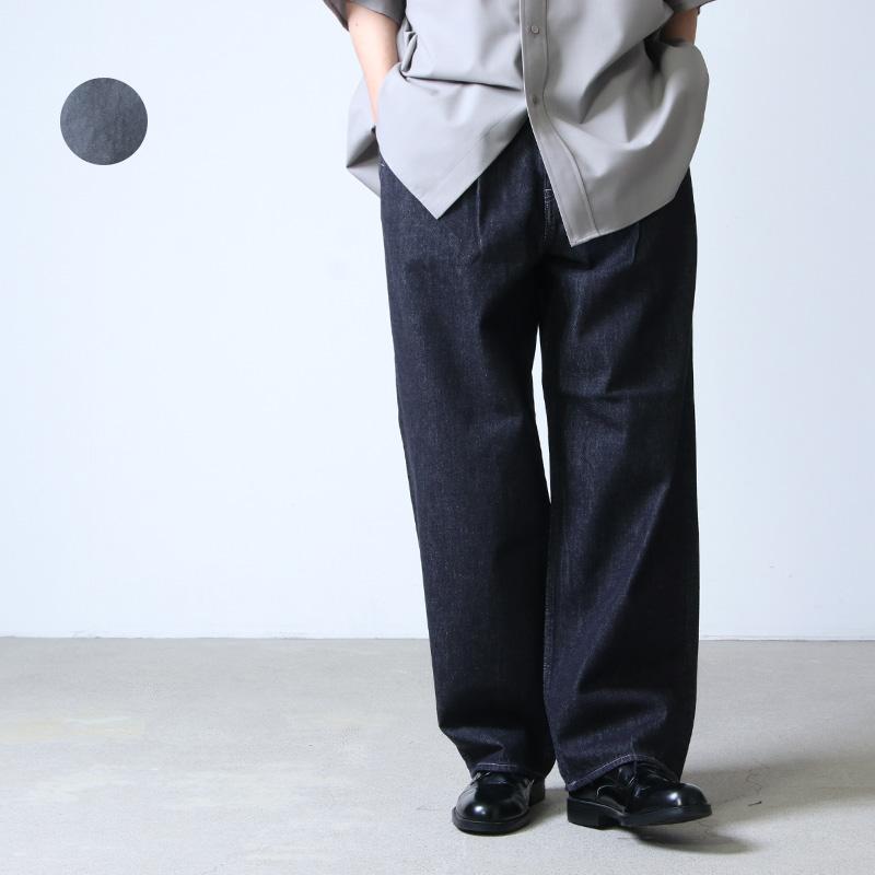 Graphpaper (グラフペーパー) Colorfast Denim Two Tuck Pants / カラーファストデニム ツータックパンツ_x000b_