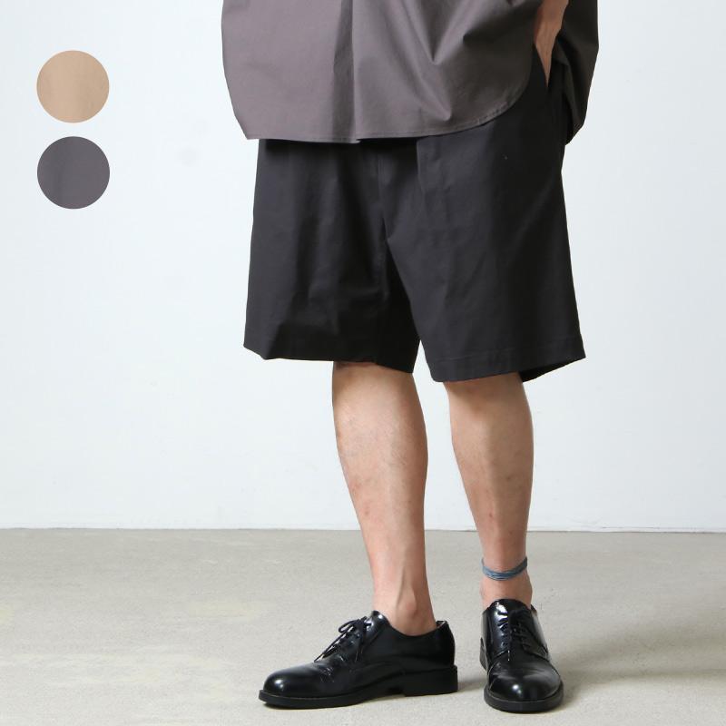 Graphpaper (グラフペーパー) Stretch Typewriter Wide Tuck Chef Shorts / ストレッチタイプライター ワイドタックシェフショーツ