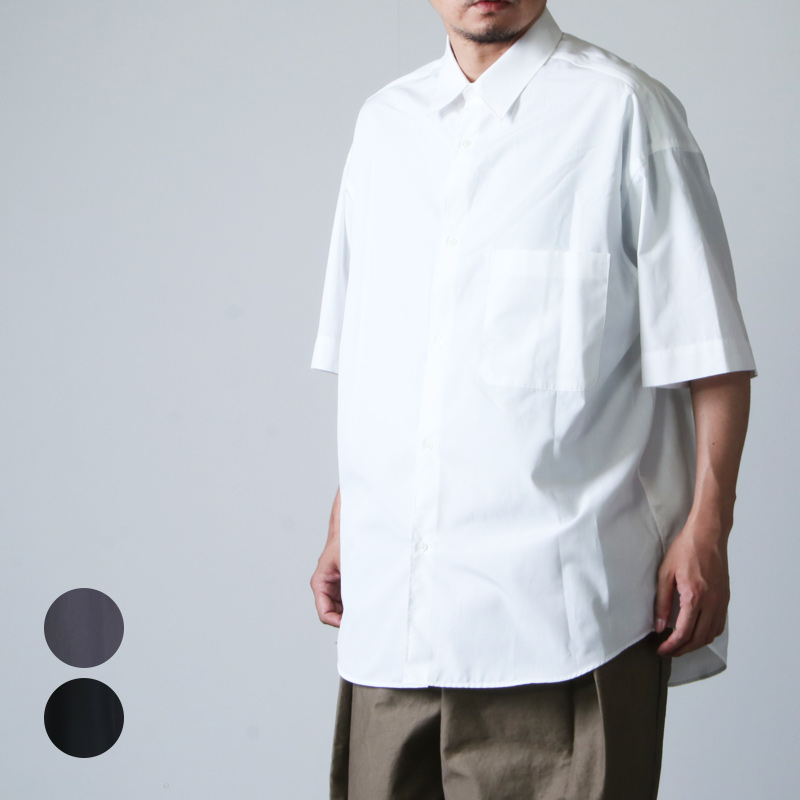 Graphpaper (グラフペーパー) THOMAS MASON for GP S/S Oversized Regular Collar Shirt