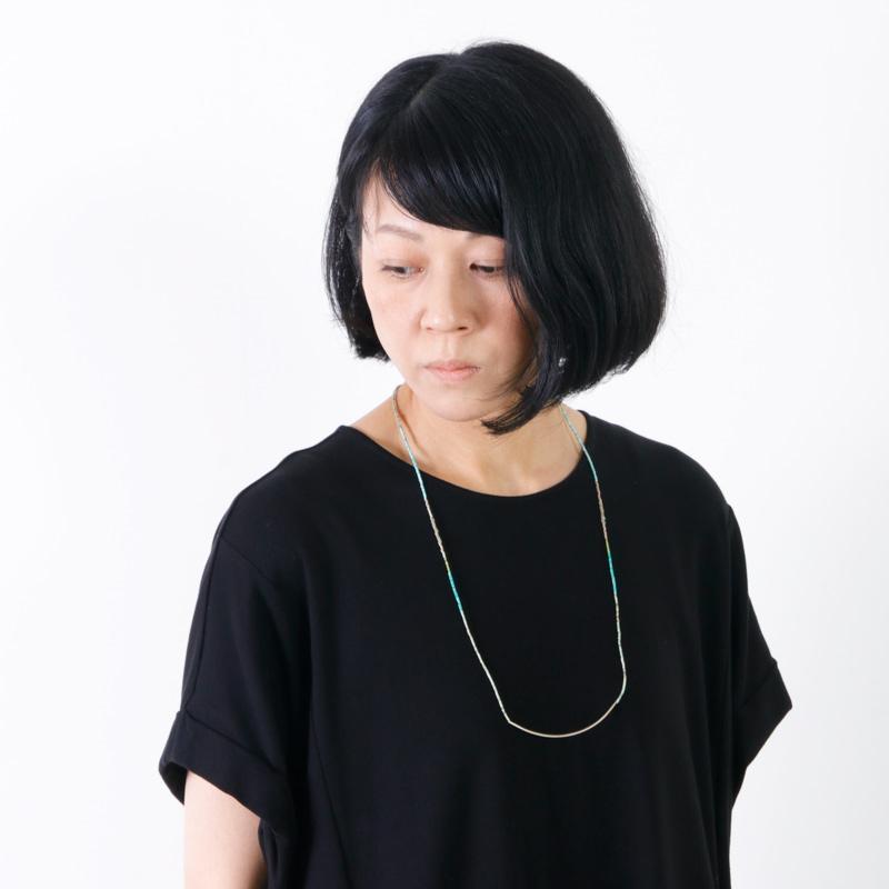 Hanalima(ハナリマ) アフガンターコイズ パイプロングネックレス
