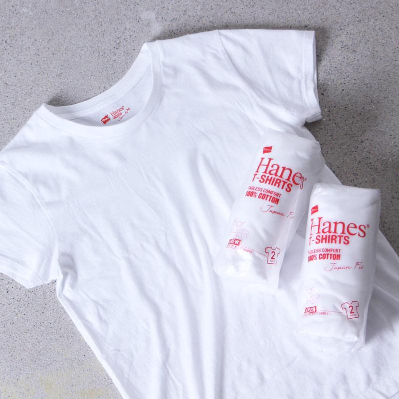 Hanes (ヘインズ) 2P Japanfit forHER クルーネックTシャツ / For Women