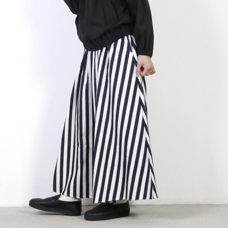 have a good day(ハブアグッドデイ) Stripe long skirt