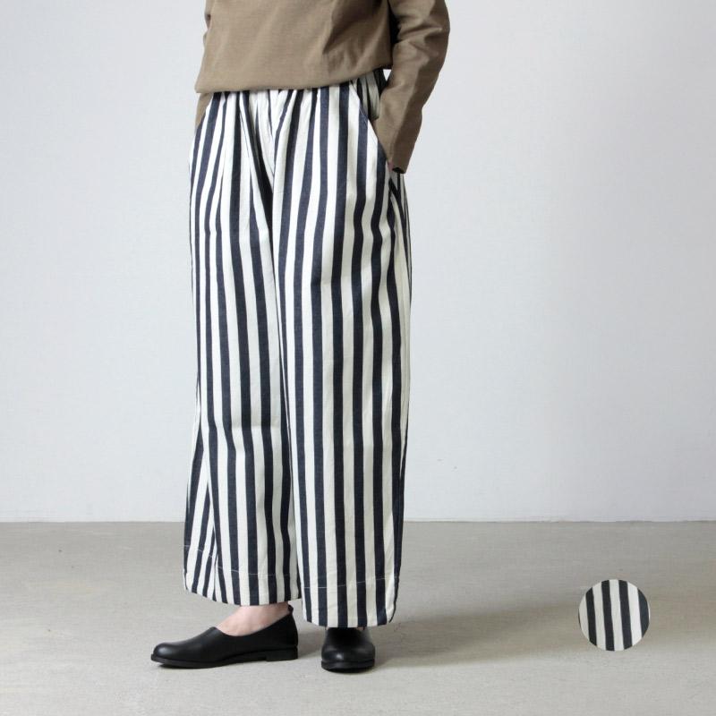 have a good day (ハブアグッドデイ) Stripe volume pants For Women / ストライプボリュームパンツ