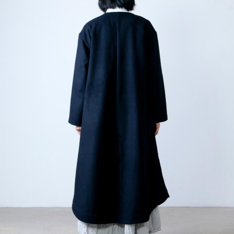 have a good day(ハブアグッドデイ) Wool no collar coat