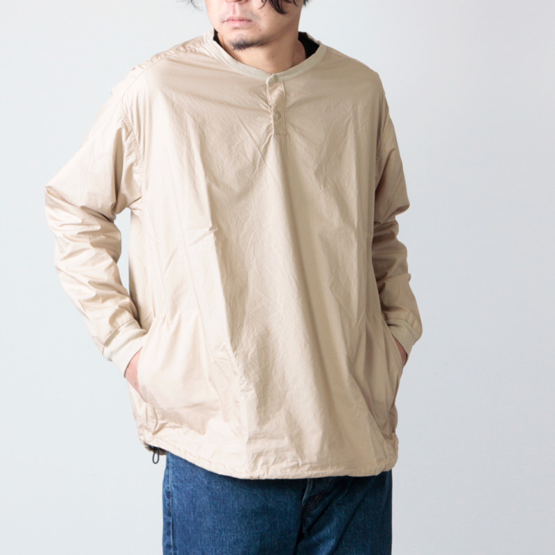 have a good day(ハブアグッドデイ) Pull over henry shirts  For Men