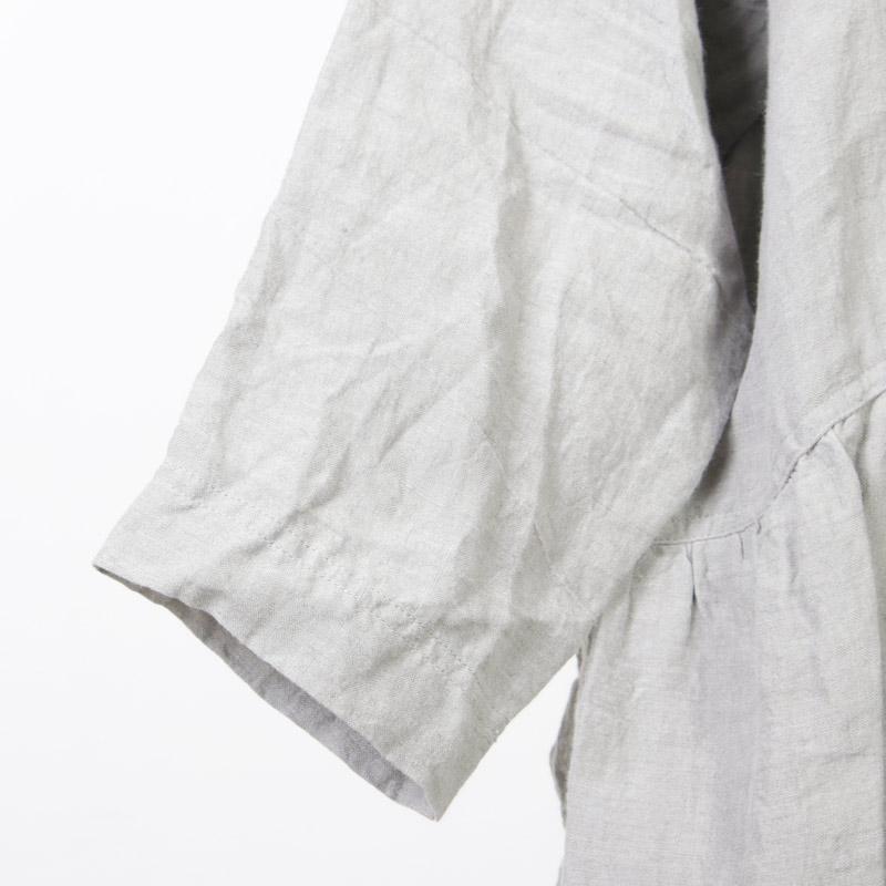 ICHI Antiquites(イチアンティークス) リネン東炊きギャザーワンピース