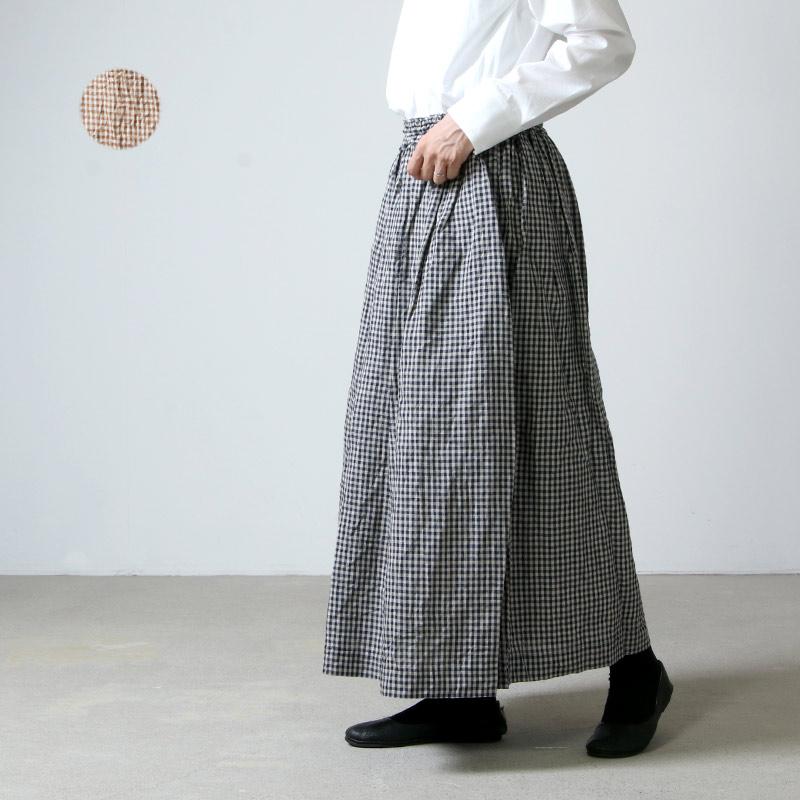 ICHI Antiquites (イチアンティークス) リネンダンガリーギャザースカート