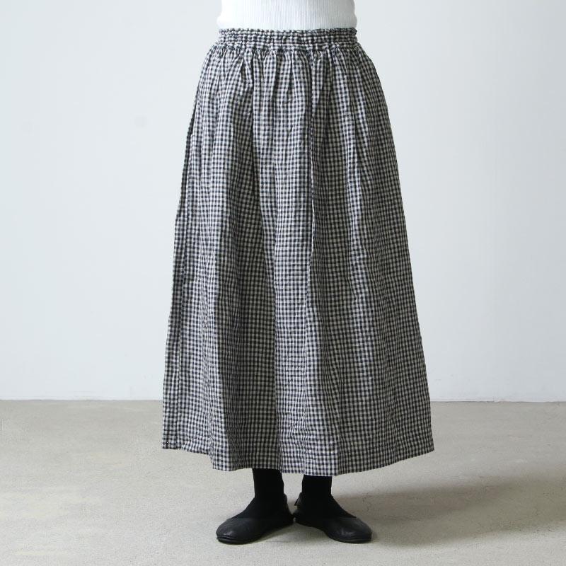 ICHI Antiquites(イチアンティークス) リネンダンガリーギャザースカート