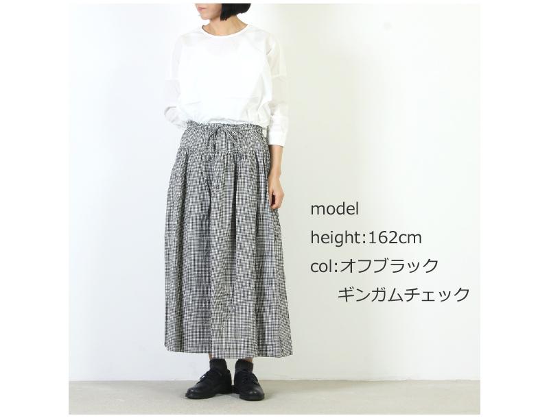 ina(イナ) ウエスト切替えギャザースカート