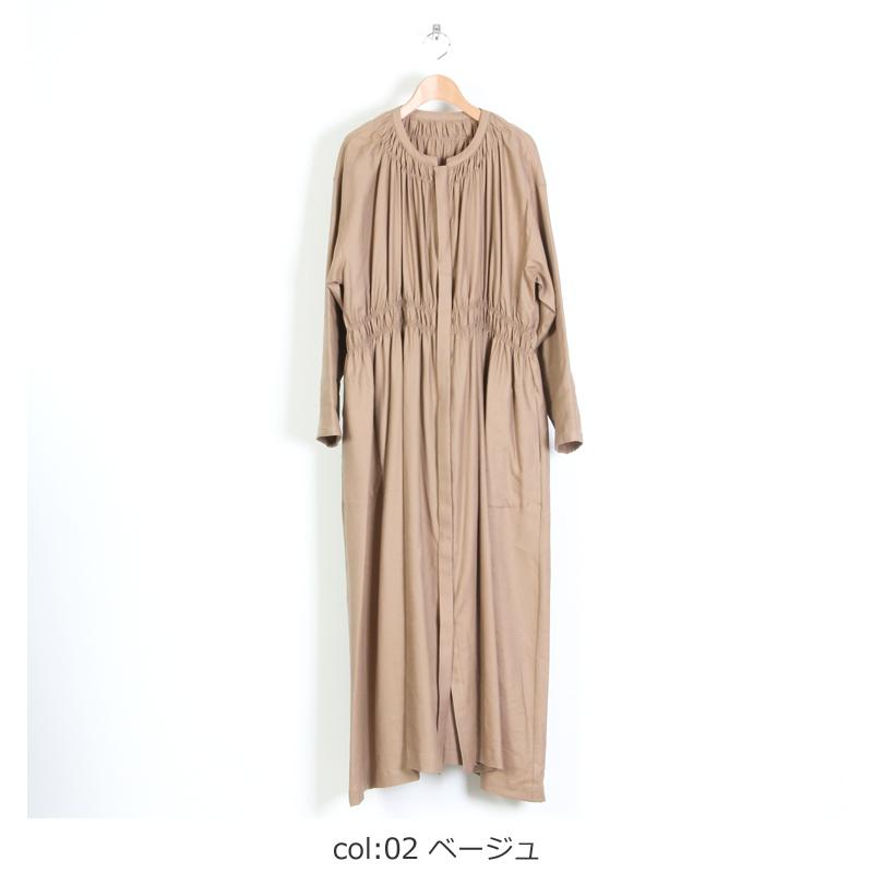 ina(イナ) ウエストギャザーマキシ丈コートワンピース