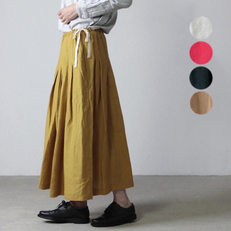 ina (イナ) アイリッシュリネンタックスカート