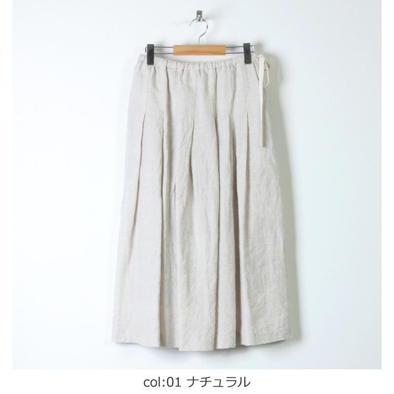 ina(イナ) アイリッシュリネンタックスカート