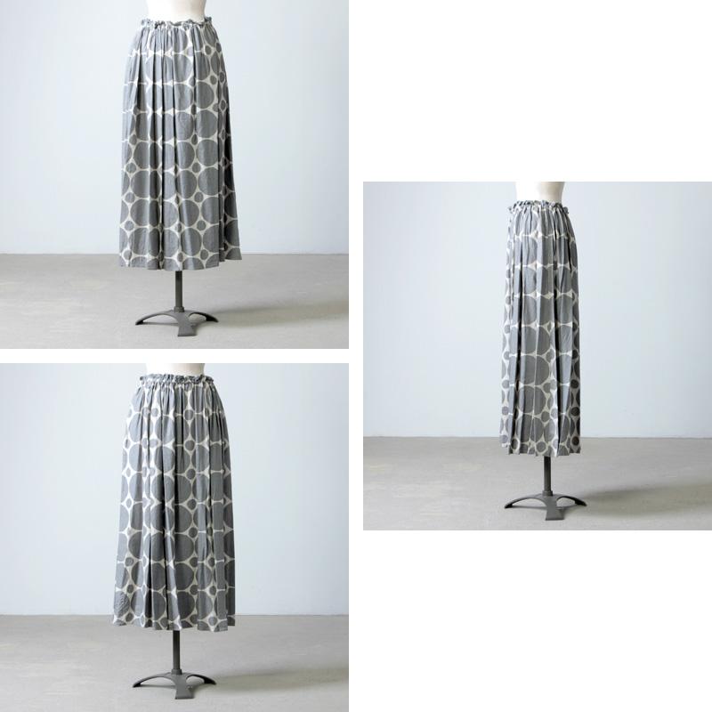 ina(イナ) ドットギャザースカート