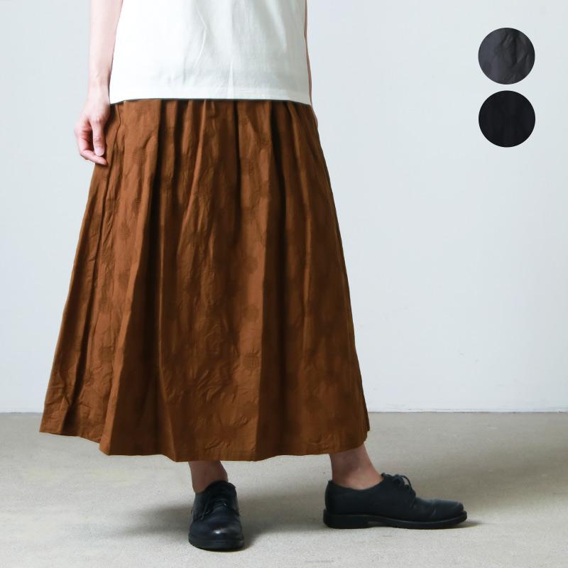 ina (イナ) ドットジャガードフレアスカート