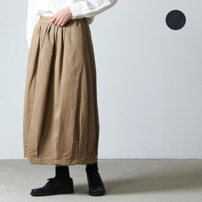 ina (イナ) コットンウールカツラギ裏毛ネルバルーンスカート