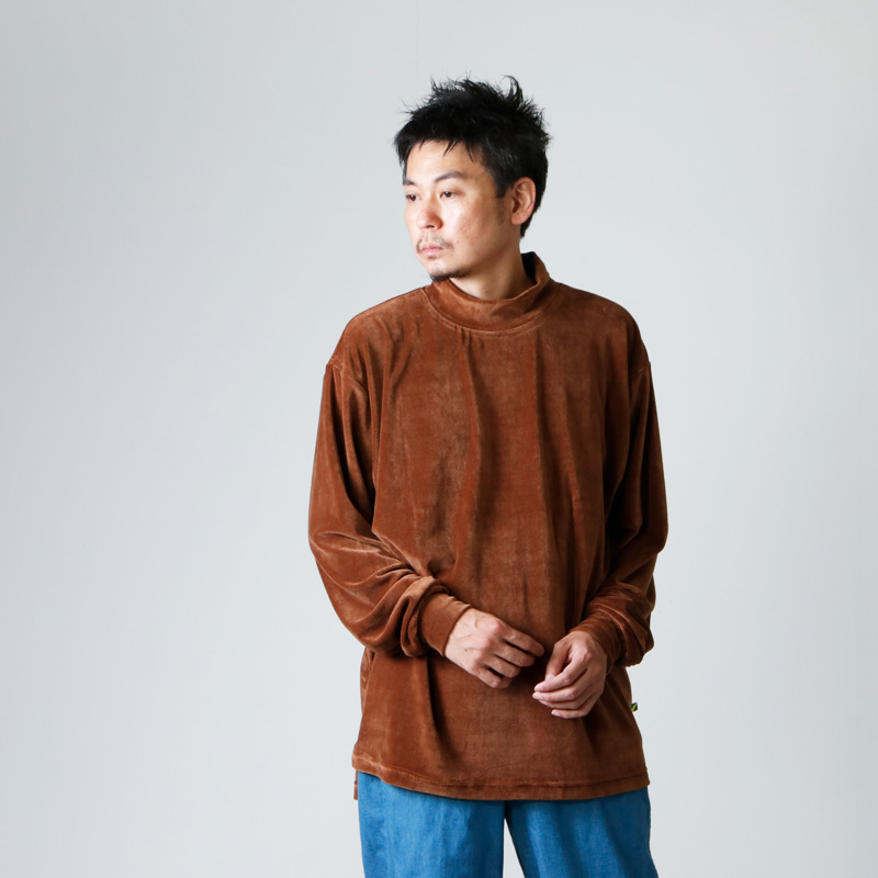 is-ness(イズネス) VELOR MOCKNECK L/S T-SHIRT