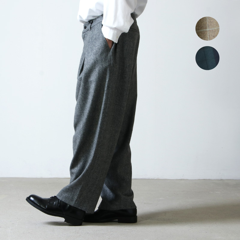 is-ness (イズネス) TUCK TROUSERS  is-ness×Burel Factory / タックトラウザース