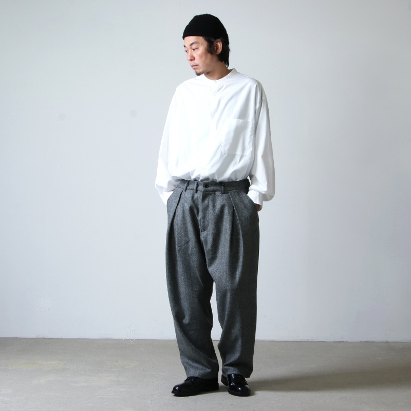 is-ness(イズネス) TUCK TROUSERS  is-ness×Burel Factory