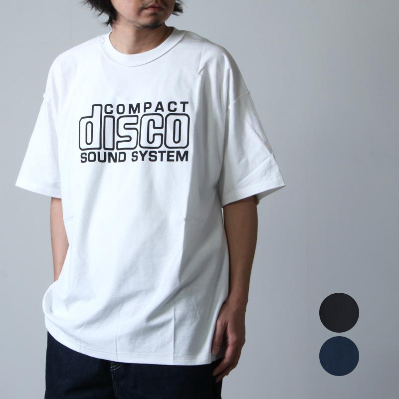 is-ness (イズネス) ISNESS MUSIC COMPACT DISCO T-SHIRT / コンパクトディスコTシャツ