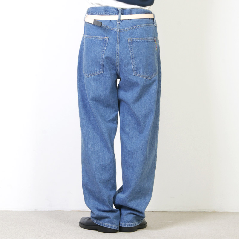 is-ness(イズネス) BAGGY DENIM PANTS
