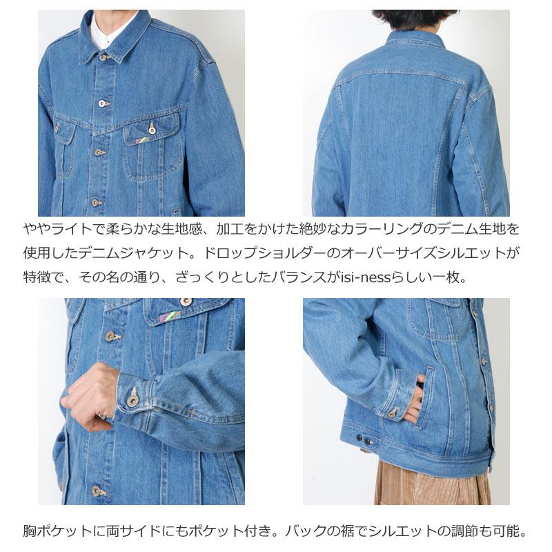 is-ness(イズネス) ZAKKURI DENIM JACKET