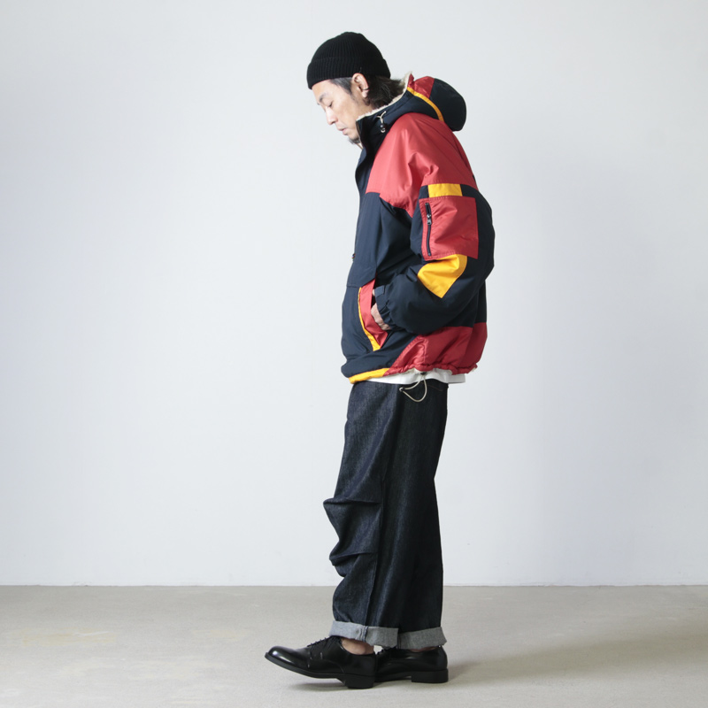 is-ness(イズネス) REVERSIBLE PULLOVER SWITCHING JACKET