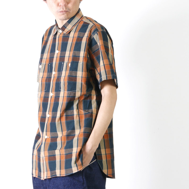 KAPTAIN SUNSHINE(キャプテンサンシャイン) Multicolorde Check Work Shirt