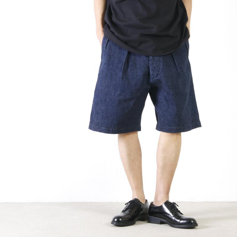 KAPTAIN SUNSHINE (キャプテンサンシャイン) Original Selvedge Denim Riviera Short Pants / リビエラショートパンツ