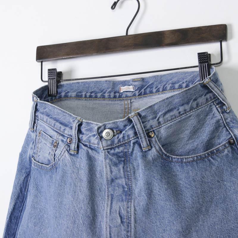 KAPTAIN SUNSHINE(キャプテンサンシャイン) Baggy Cut Straight Denim Pants Washed