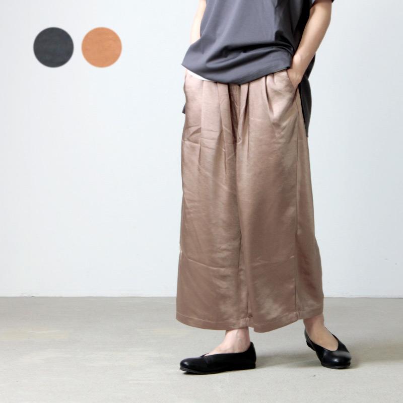kelen (ケレン) 2Tuck Easy Wide Pants Soi Satin / ツータックイージーワイドパンツソイサテン