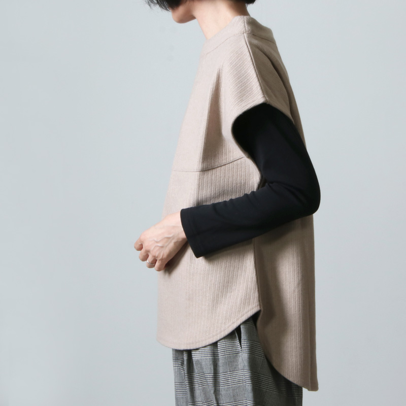 kelen(ケレン) Mock Neck Vest Fition
