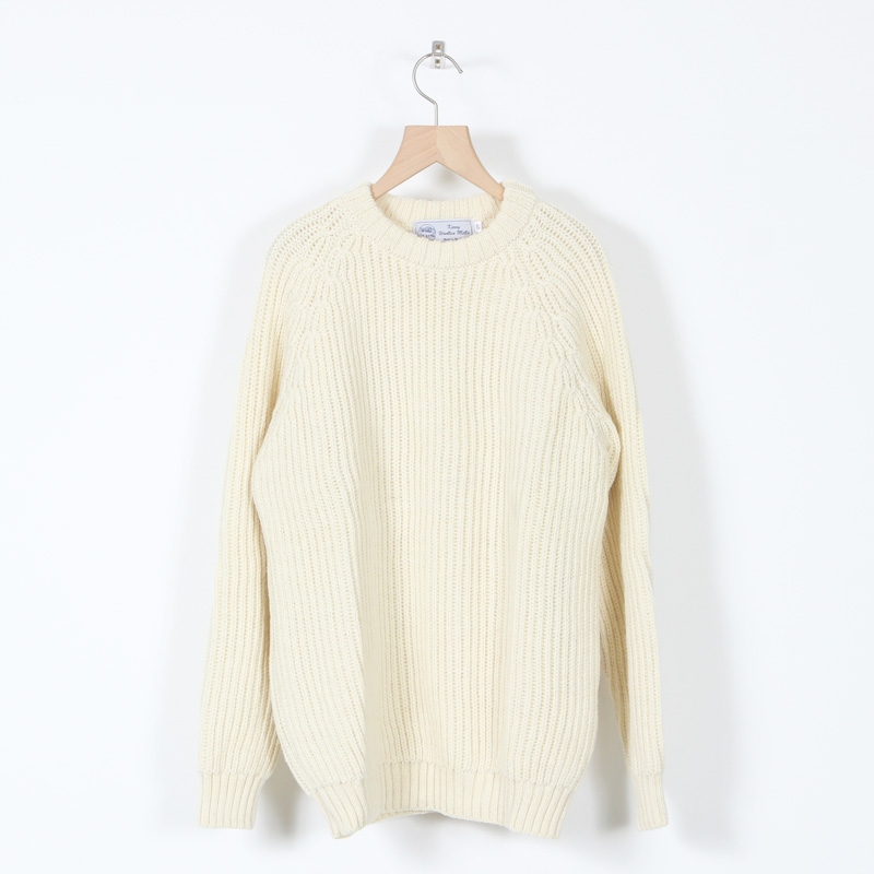 Kerry Woollen Mills(ケリーウーレンミルズ) Fisherman Rib Crew Neck Sweater