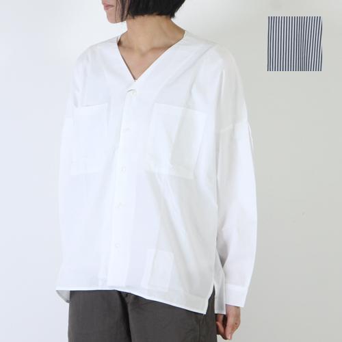 kha:ki (カーキ) Vネックワイドシャツ