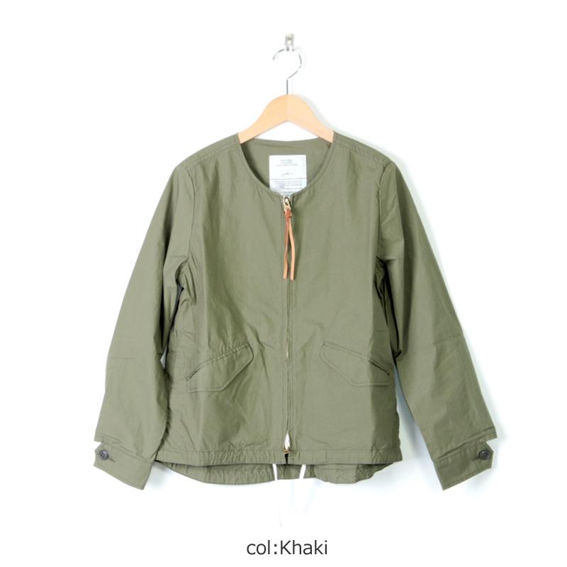 kha:ki(カーキ) ノーカラーミリタリージャケット