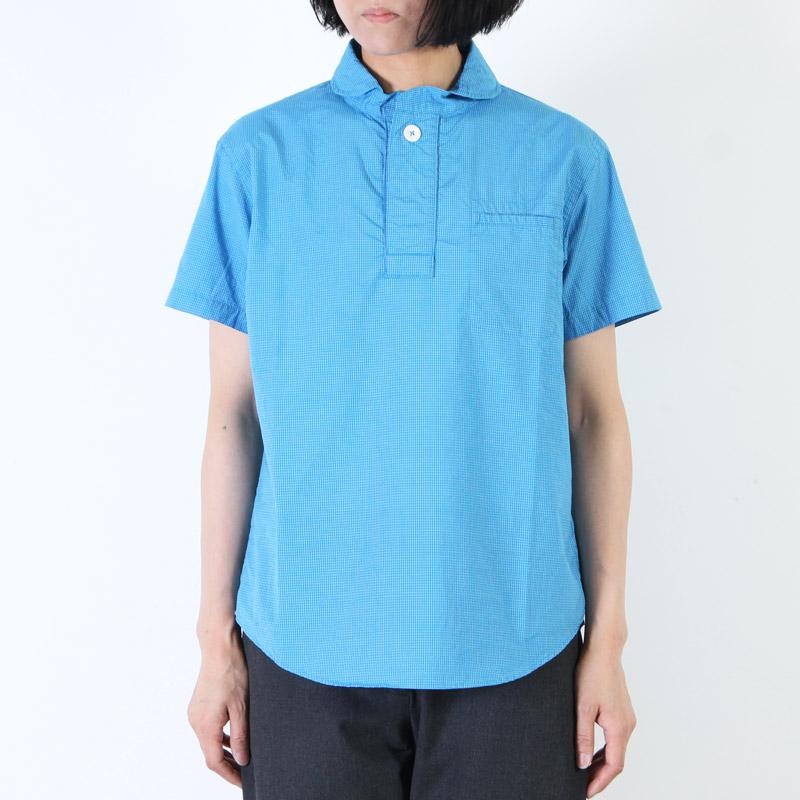 LOLO(ロロ) 定番プルオーバー半袖ミニグラフチェックシャツ