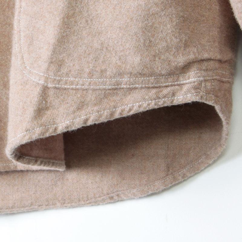 LOLO(ロロ) 定番プルオーバー型 ビエラ起毛シャツ size:S