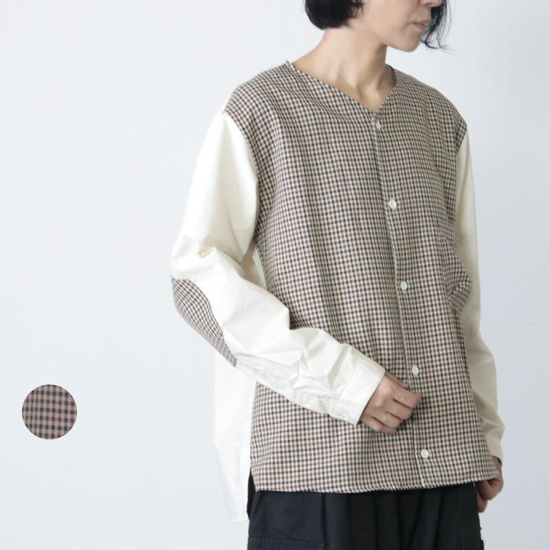 LOLO (ロロ) ガンクラブチェック コンビネーションシャツ size:S