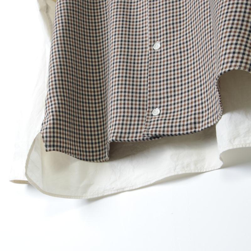 LOLO(ロロ) ガンクラブチェック コンビネーションシャツ size:S