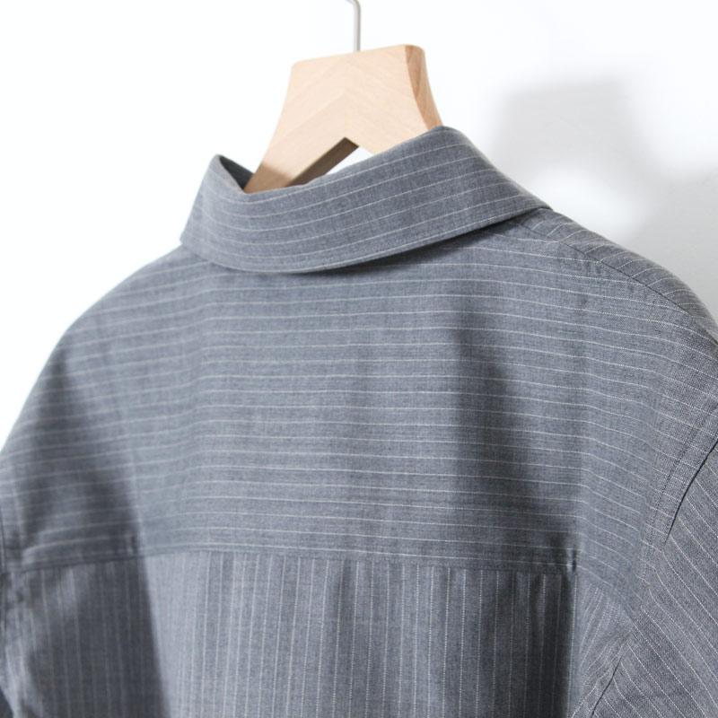 LOLO(ロロ) 定番プルオーバーストライプウールシャツ