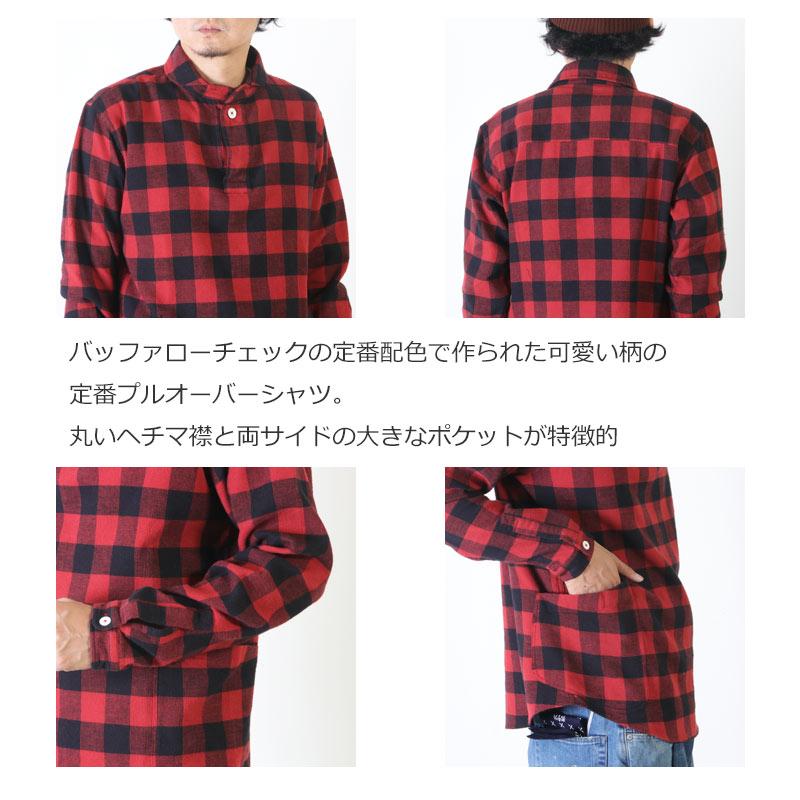 LOLO(ロロ) 定番プルオーバー型 バッファローチェックシャツ
