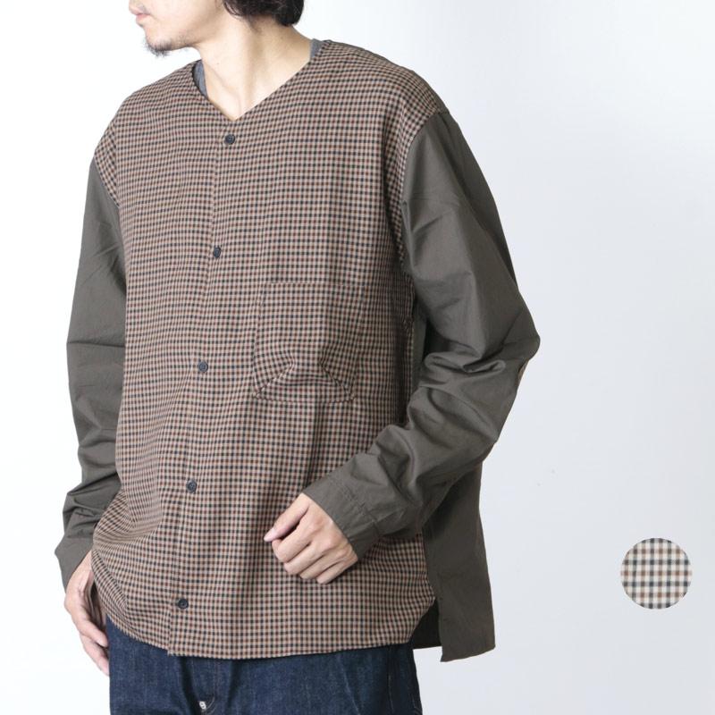 LOLO (ロロ) ガンクラブチェック コンビネーションシャツ