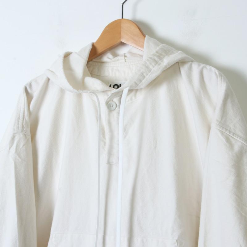 LOLO(ロロ) フード付きプルオーバー ビッグシャツ フランネル