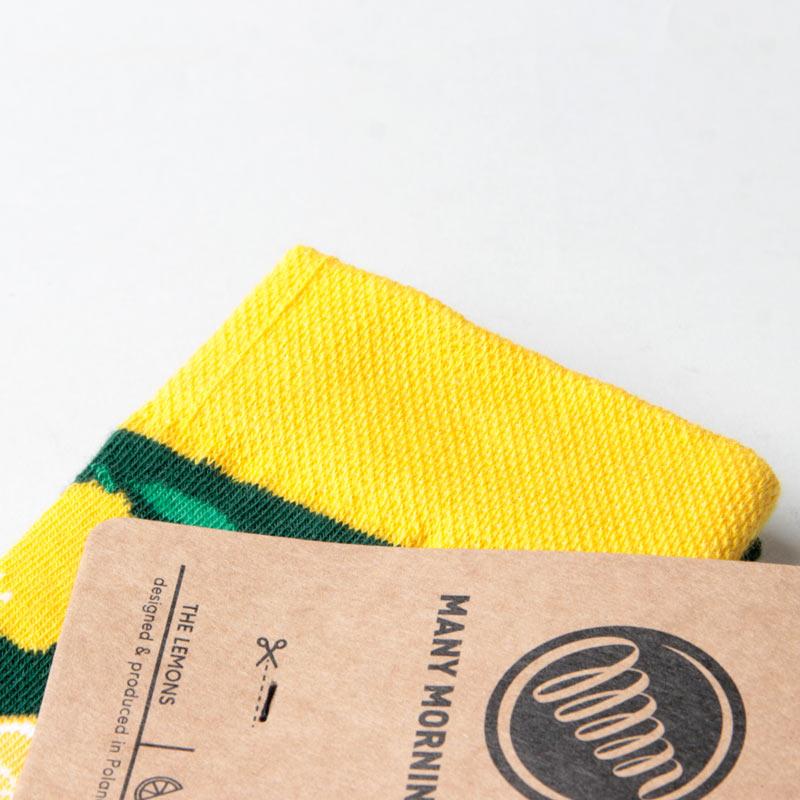 MANY MORNINGS(メニーモーニングス) Regular Socks Lemon