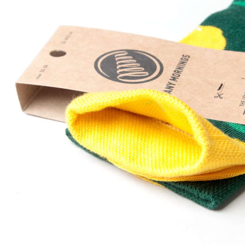 MANY MORNINGS(メニーモーニングス) Regular Socks Lemon