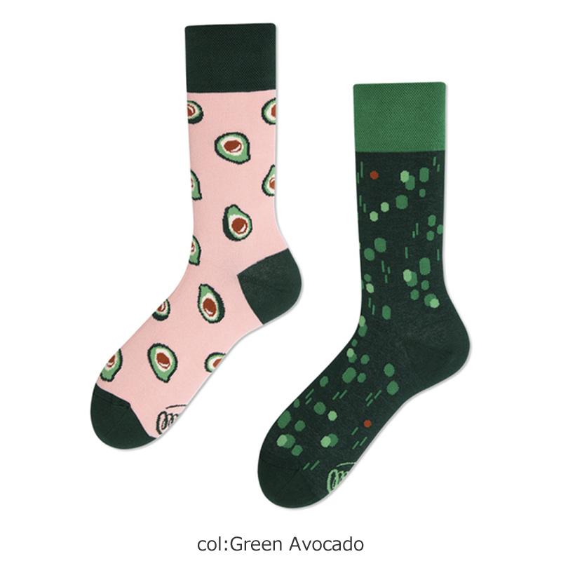 MANY MORNINGS(メニーモーニングス) Regular Socks Green Avocado