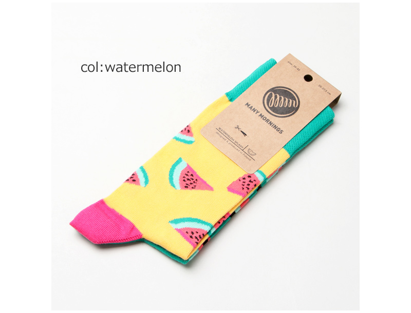 MANY MORNINGS(メニーモーニングス) Regular Socks Watermelon