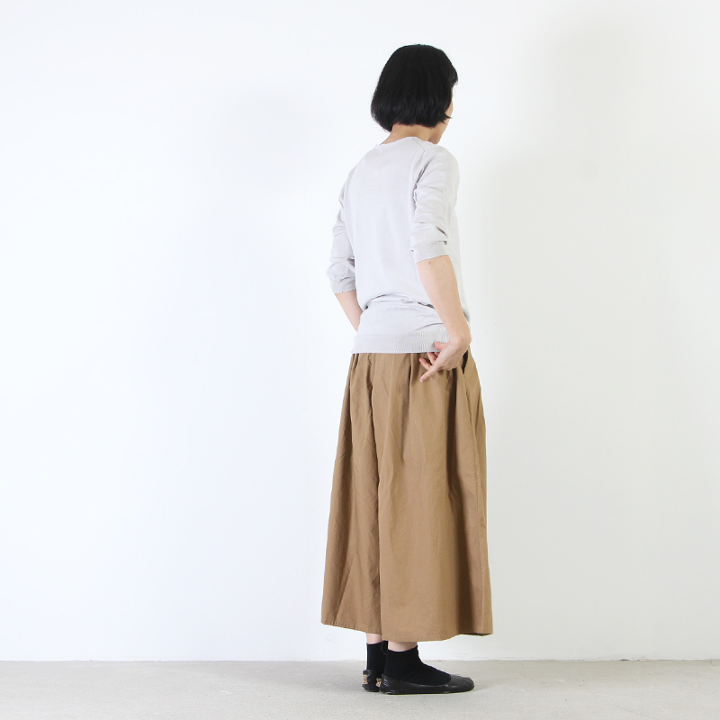 mao made(マオメイド) UV加工ピマコットンVネックプルオーバー