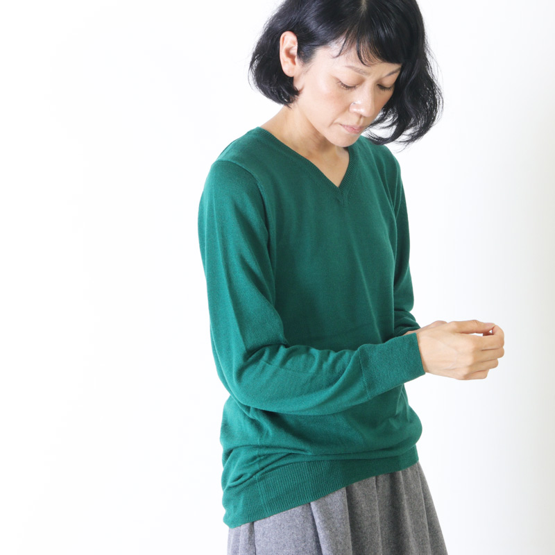mao made(マオメイド) 2/48 CASH FEEL Vネック